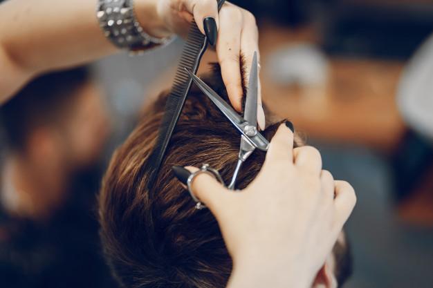 Barbershop Hair Cutting Scissor Care
