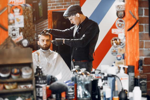 Hair Straightening for Men in a Barbershop